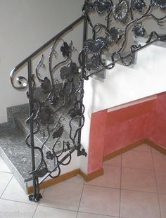 RINGHIERA FERRO BATTUTO . Realizzazioni Personalizzate . 010 Stair Banister, Banisters, Stairs, Modern, Vintage, Ebay, Ladders, Windows, Trendy Tree