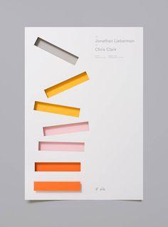 A creative poster series developed by studio Moniker for the Designer Fund – Bridge speaker series. Moniker is a graphic design and branding studio based Graphisches Design, Buch Design, Layout Design, Print Design, Logo Design, Design Trends, Lettering, Typography Design, Deco Led