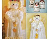 """McCall's Sewing Pattern 2992 Angels - 36"""" Greeter Angle, 20"""" Wallhanging Angel, 7"""" Angel Ornaments"""