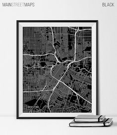 Houston Map Art Print Houston City Map of by MainStreetMaps https://www.etsy.com/listing/226876494/houston-map-art-print-houston-city-map?ref=shop_home_active_8