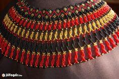 Népviselet sárközi gyöngy nyakék alkalmi nyaklánc gyöngyből