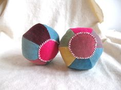 Play ball, rattle ball, organic, Waldorf, soft, colorful, baby, shower gift, multicolor, can be vegan