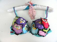 Give A Hoot Owl Bling My Bra Charity Auction Adult Cosplay Breast Cancer 34 C | eBay