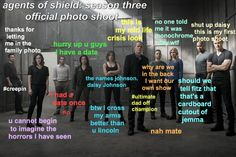 Agents of S.H.I.E.L.D. photo shoot
