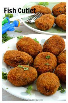 Fish cutlet Bun Kabab Recipe, Biryani Recipe, Fish Recipes, Snack Recipes, Curry Recipes, Chicken Recipes, Recipies, Indian Prawn Recipes, Rezepte