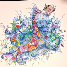 Johanna Basford | Colouring Gallery Polychromos and prismacolors premiers