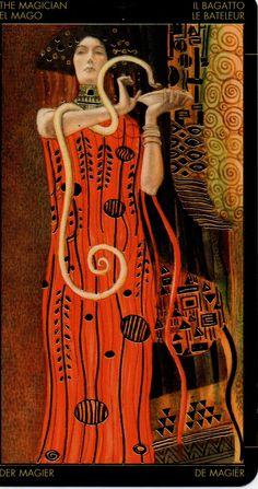 Klimt Golden Tarot:The Magician