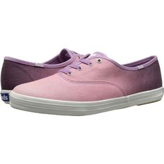 Keds Champion Ombre Women's Lace up casual Shoes, Purple ($43) ❤ liked on Polyvore featuring shoes, sneakers, purple, laced sneakers, colorful sneakers, multi color shoes, multicolor sneakers and lace up sneakers