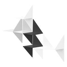 étagères métal 3D par ¿adónde? noir, gris et blanc