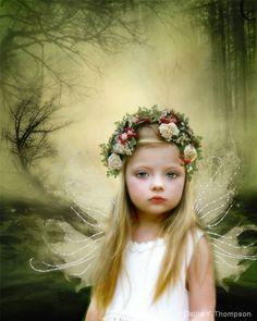 Image detail for -Keywords: angel, fairy, wings, girl, flowers, blue eyes, child ...