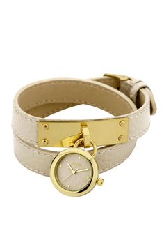 Oasis white wrap strap bracelet watch. Pretty and a bargain at 37euros.