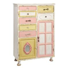 Yellow 7 Drawer 2 Door Cabinet - Casafina