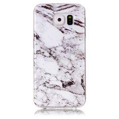 Coque Samsung Galaxy S6 Imprimé Marbre - Blanc