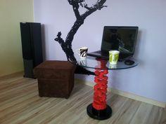 Stolik kawowy z korbowodu
