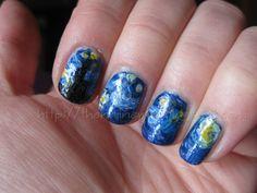 Van Gogh meets Doctor Who: nail art The Nail Newbie