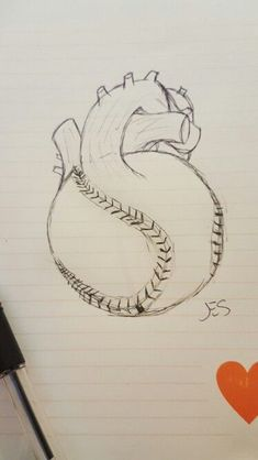 Decided to draw this for my boyfriend. It's kind of sloppy but the idea is there. Baseball is his life. Would make a cool tattoo with the right artist to run with it. Softball Tattoos, Sport Tattoos, Cool Tattoos, Baseball Drawings, Baseball Art, Baseball Anime, Baseball Videos, Baseball Players, Art Sketches