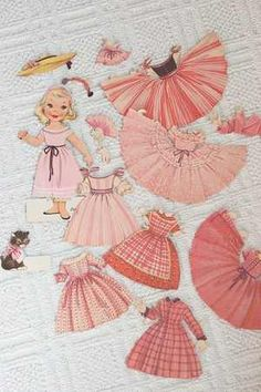 pretty in pink paper doll Doll Toys, Baby Dolls, Reborn Dolls, Reborn Babies, Paper Art, Paper Crafts, Pink Paper, Vintage Paper Dolls, Everything Pink