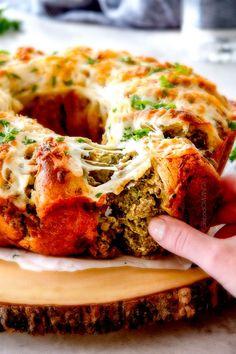 Easy Cheesy Sausage Pesto Ring