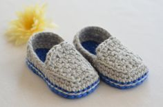 Crocheted Casual Baby Loafers // Baby Boy by PeachesAndCreamForMe