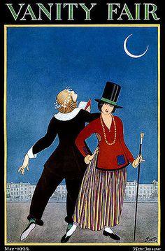 Strange Yet Compelling--Vintage Vanity Fair Deco Magazine Cover