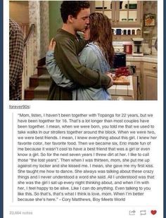 Boy Meets World. Cory and Topanga