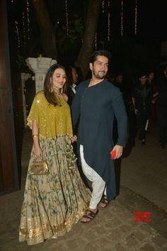 Mumbai: Celebs at Anil Kapoor& Diwali party - Social News XYZ Indian Wedding Clothes For Men, Wedding Kurta For Men, Indian Wedding Outfits, Diwali Dresses, Diwali Outfits, Designer Suits For Men, Indian Designer Wear, Indian Groom Wear, Indian Wear