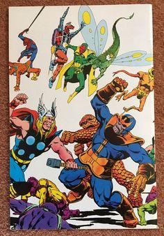 The Infinity Gauntlet, Fantasy Comics, Avengers, Comic Books, Marvel, Cover, Art, Art Background, Kunst