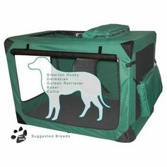 """Pet Gear Deluxe Generation II Soft Crate - Large is 42""""L x 29""""W x 28""""H, $280"""