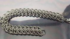 Chunky Stainless Steel chain maille bracelet in GSG by JoyasSuri, €30.00