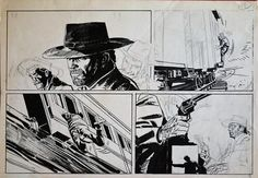 Uggeri, Mario - original plate for a western comic publication - W.B.