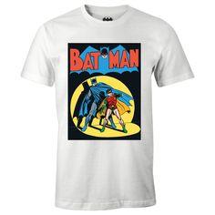 Batman Neon Batman Action Shot Licensed Adult Heather T-Shirt Toutes Les Tailles