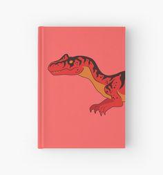 Allosaurus Hardcover Journal #dinosaurs #jurassic #red #allosaurus #animals