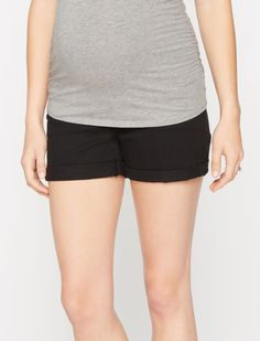 554cb03784f3d A Pea in the Pod 7 For All Mankind Secret Fit Belly 5 Pocket Maternity  Shorts