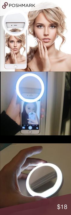 New selfie led light Practical and Portable Selfie Flash LED Phone Camera Ring Light For Apple Iphone Samsung HTC Features: 3 mode lighting, you can choose what you like. A ring type macro flash light designed particularly for close-up, medical, scientific, forensic photography, etc. This macro ring flash illuminates the subject, no matter how low the lighting conditions are. Specification: Accessories Phone Cases