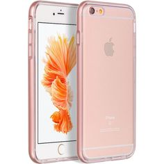 """APPLE IPHONE 6 PLUS/6S PLUS (5.5"""") HYBIRD CASE ULTRA THIN AGUA CLEAR + ROSE GOLD FRAME"""