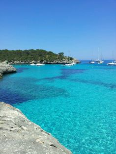 """See 292 photos and 40 tips from 1507 visitors to Cala de sa Font de n'Alis / Cala Mondragó. """"We were here early morning and it was awesome. Costa, Four Square, Beaches, Travel Destinations, Gap, Beautiful Places, World, Awesome, Water"""