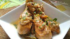 Rollitos de pollo rellenos de jamón y queso - El dulce paladar Cool Kitchens, Chicken Wings, Tapas, Pork, Turkey, Vegan, Recipes, Carne, Pastel