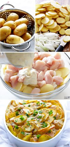 Easy Lemon Chicken Casserole | Make this delicious and comforting casserole to serve on Easter Sunday. Lemony chicken, creamy soup, and hearty potatoes meld together to create this beautiful dish the entire family will love!