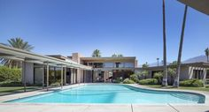 Twin Palms Estate (1947) in Palm Springs, CA, designed by E. Stewart Williams for Frank Sinatra. Photo Credit: Photo by Carol M. ...