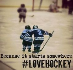 Everyone started somewhere, even the greatest players laced up their skates for the first time.
