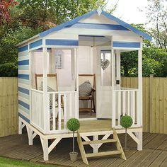 Garden Beach Hut! New for Spring 2016. Garden Beach hut. Awesome sheds