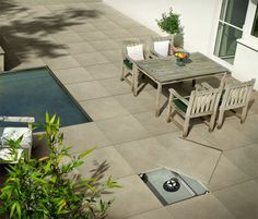20mm thick porcelain stoneware by Refin Out2.0. designed specifically for outdoor applications
