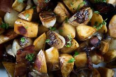 """Connecticut""   Quince With Cipollini Onions and Bacon from NY Times' United States of Thanksgiving: Thanksgiving Recipes from across the United States."