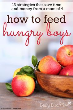 Tips from a mom of 4 on how she feeds her boys and saves money on groceries each month. Time-saving strategies, ideas for cheap meals, too.