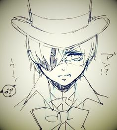 Black butler sketches by Yana Toboso