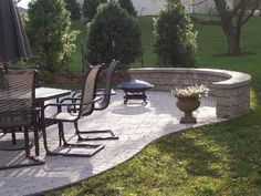 retaining wall ideas with seating | Patio with Seating Wall by Archadeck