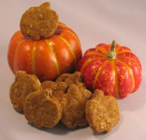 Recipes for Pet Treats: Pumpkin Pie Dog - leave out the spices and use rice flour and rolled oats for Baxie's ears