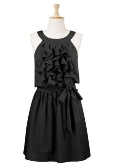 black ruffle dress: for when I lose all the weight I want to lose