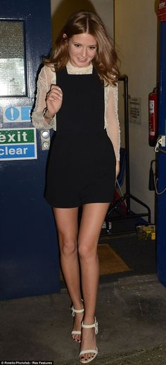 Millie Mackintosh looking so cute in these dungaree shorts