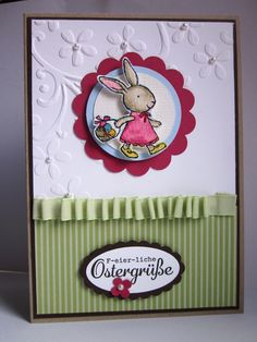 #stampin up - everybunny - Hasenparade - Osterkarte - F-eier-liche Ostergrüße